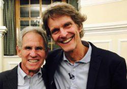 Jon Kabat-Zinn (till vänster) tillsammans med Gunnar Michanek, Mindfulnessgruppen.